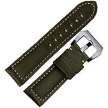 NW Pelle di vitello verde 26mm cinturino per orologio per Panerai Esercito Orologio