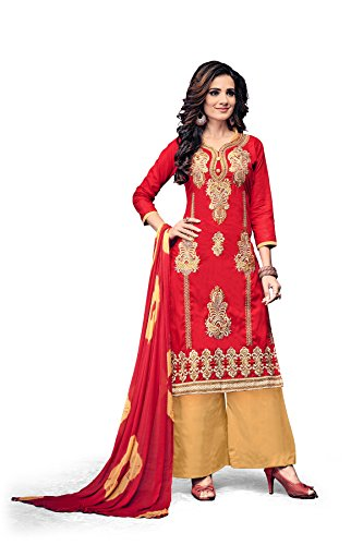 Crazy Women's Pure Cotton Embroidered Semi Stitched Salwar Suits for women Party...