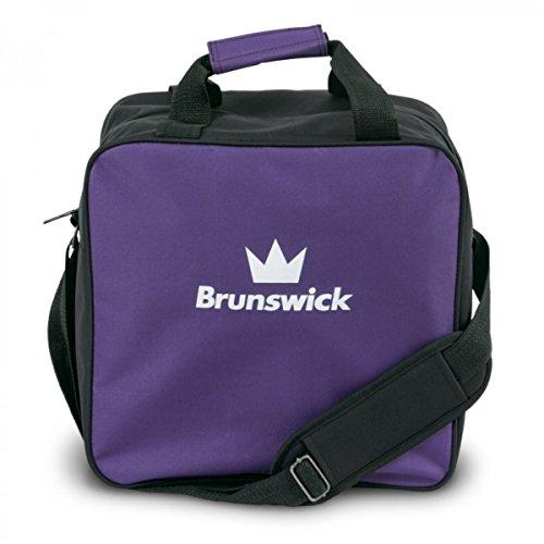 Brunswick TZone Single Tote 1-Ball-Bowling-Tasche für einen Bowlingball, Farbe:Lila