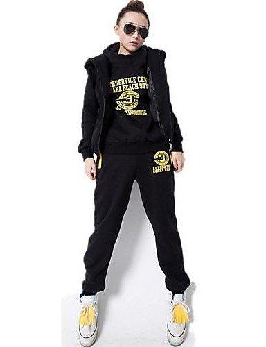 CU@EY Women's Fleece Thickening Hoodies Set Korean Style Sport Sweatshirts Suits(Hoodies & Pants & Vest) , xl