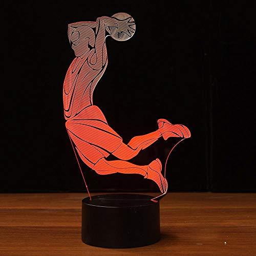 orangeww 3D Basketball Lampe USB Led-visuelle Lampe NBA Nachtlicht Mode Kinder Schlafzimmer Dekor Table/Schreibtisch Beleuchtung Leuchte Fußball Lampe Baby Schlafen lampe -