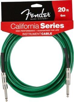 Fender 6m Califorinia Instrumenten Kabel - Surf Green