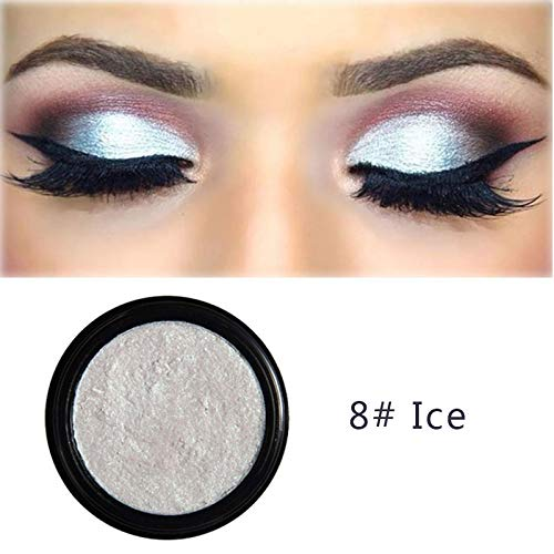 YIDADIAN Single Eye Shadow Puder Shimmer Metallic Lidschatten-Palette Leichte Textur Langlebig