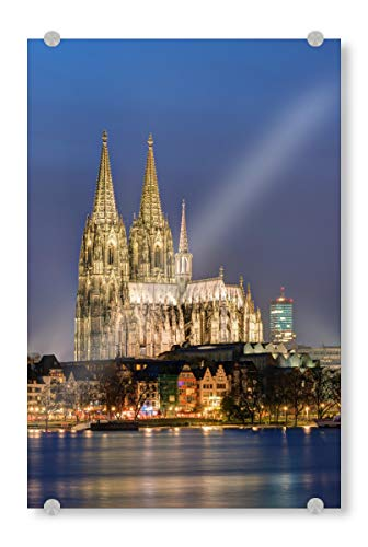 artboxONE Acrylglasbild 60x40 cm Städte D'r Dom en Kölle Bild hinter Acrylglas - Bild köln Cologne nrw