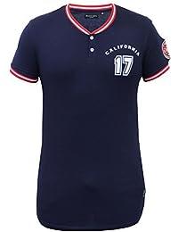 Haut De Base-ball Pour Les Hommes Brave Soul T-shirts Longue Ligne Pull-over Bout Manche Courte Neuf