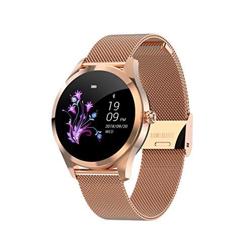 HKPLDE Smartwatch Damen/Aktivitätstracker Farbbildschirm Schlafüberwachung mit Pulsmesser Touchscreen / 9 Sportuhr Kalorienzähler für iOS Android-A