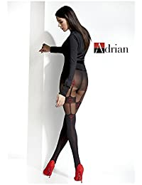 04d2c07d584f5 Patterned Tights with Back Seam Woman Pantyhose Ladies New Adrian