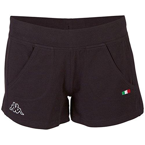 Kappa, Pantaloni corti Donna Tiffany, Nero (Black), L