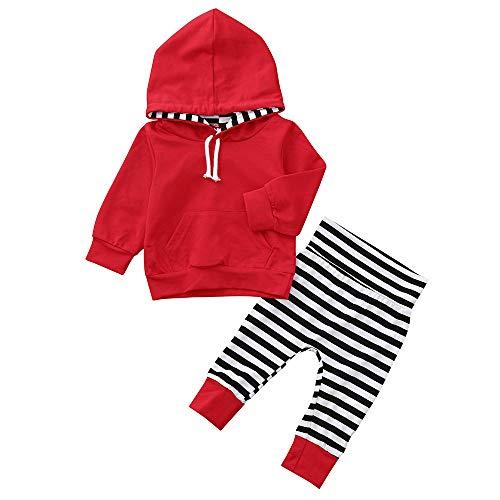 Beikoard_Babykleidung 2PCS Kleinkind Kinder Baby Langarm mit Kapuze -
