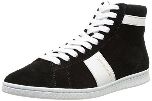 Calvin Klein Jeans HAMISH, Sneaker a collo alto in pelle scamosciata Uomo Nero