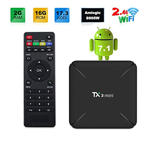 Sofobod TX3 MINI 7.1.2 smart TV BOX 2GB/16GB 4K TV Amlogic S905W Quad core H.265 Decoding 2.4GHz WiFi - 2GB/16GB