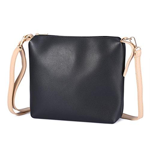 88fc0023482d5 ... Mufly Frauen Mode PU Handtaschen Set 2 teilige Tasche Tote Crossbody  Tasche + Schultertasche(Braun
