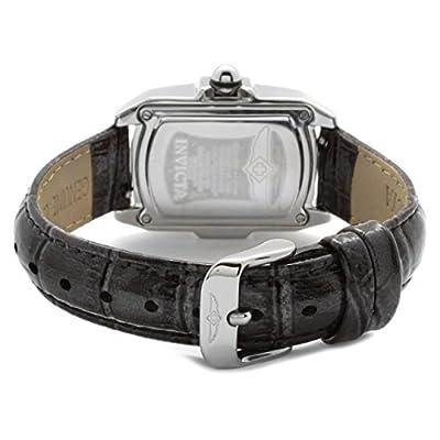 Invicta Baby Lupah - Reloj analógico de mujer de cuarzo con correa de piel negra - sumergible a 100 metros de Invicta