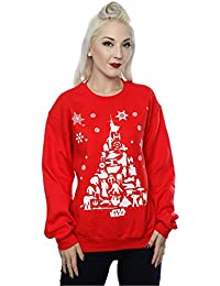 Star Wars Damen Christmas Tree Sweatshirt