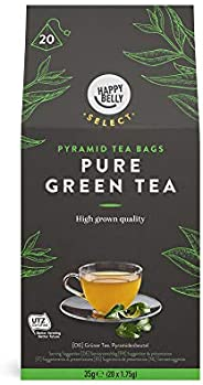 Marchio Amazon - Happy Belly Select, Tè verde puro in bustina, 6 x 20 piramidi