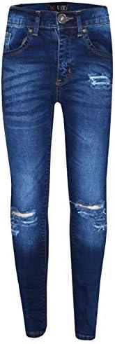 A2Z 4 Kids® Ragazze Elastico Blu Jeans Bambini Strappato Denim Pantaloni Moda Pantaloni Jeggings età 5 6 7 8 9
