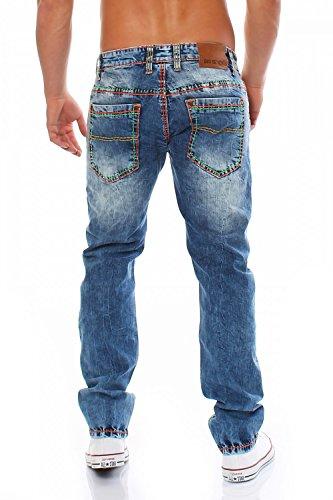 BIG SEVEN - JAY - Medium Aged - Regular - Dicke Naht - XXL - Herren Jeans Hose Blau