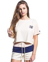 c98ddd9fc5b55 Grimey Camiseta Chica Walk ON by Crop Top SS17 Antique White