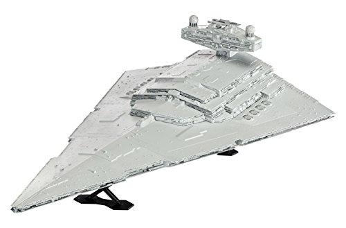 Revell Modellbausatz Star Wars Imperial Star Destroyer - Jubiläumsset 40 Jahre Star Wars im Maßstab 1:2700, Level 4, originalgetreue Nachbildung mit vielen Details, Geschenkset mit Basiszubehör und Poster, 06052