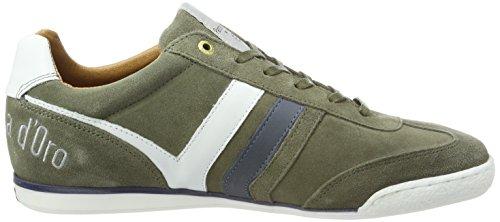 Pantofola Doro Herren Vasto Suede Uomo Low Sneaker Grün (olive)