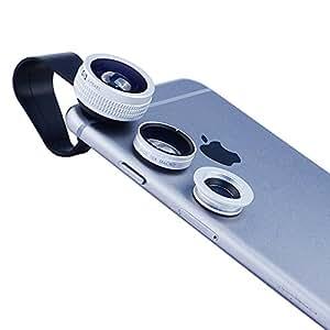 Apexel® 3 in 1 Obiettivo Grandangolo 75°Macro 10X Fisheye 180°Clip per Cellulare
