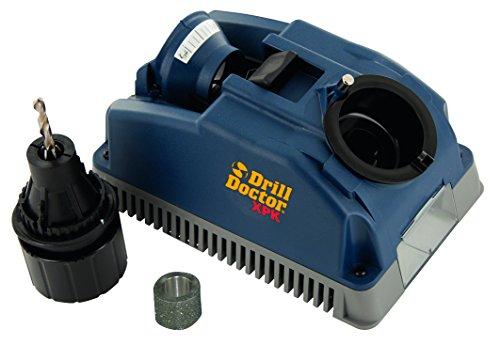 TIVOLY 1111177400B 400 Affûteuse de forets Drill Doctor XP DD400 Ø 2,5 à 13 mm Affûtage 118 Conique et Pointe en Croix-Angle de dépouille réglable, Bleu