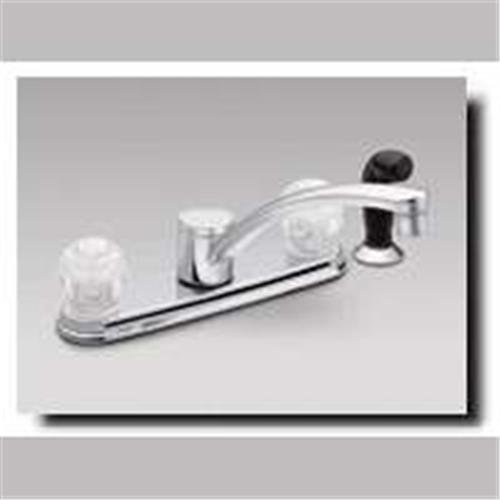Moen ca87681chrom Touch Control Zwei Griff Low Arc Küchenarmatur (2-griff Moen Küchenarmatur)