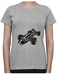 DreamGirl Vintage Formula 1 Car, Bolid. Grand Prix Womens T-Shirt