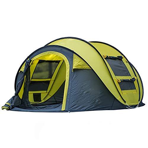 Dye Wasserdicht Sofort Pop Up Zelt 3-4 Personen Zelt, Quick Set Up, Wasserdicht Camping Wandern Zelt Wasserdicht Große Familienzelte,Gelb