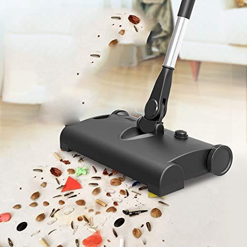Lupure Sweep-Teppichkehrer Sweep-Teppich- und Bodenkehrer mit 360 ° -Drehsystem und Kantenbürsten USB-Lade-Leichtgewicht Funktioniert auf Teppichen und harten Bodenflächen