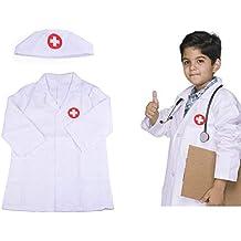 Ritapreaty Disfraz de Disfraz de Enfermera, Disfraz para niño Disfraz General de Enfermera de Bata