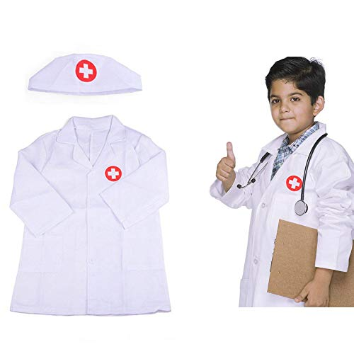 szseven Kinder Unisex Ärzte Mantel Fancy Dress Up Party Kostüm Krankenschwester Uniform Outfit
