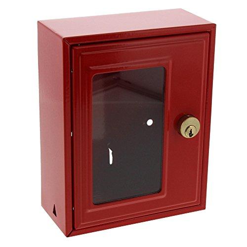Burg-Wächter Notschlüsselbox ohne Hammer, 1 Haken, Stahlblech, Höhe: 167 mm, 6160, RAL 3020 Verkehrsrot