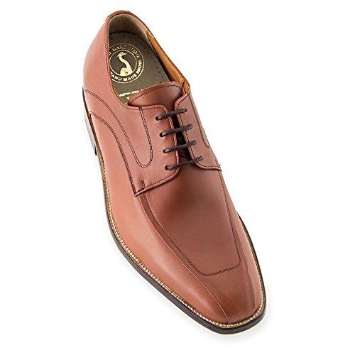 Masaltos - Chaussures rehaussantes pour homme. Jusqu'à 7 cm plus grand! Modèle Bardolino Brun