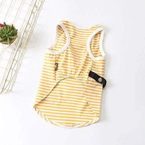 ZZQ Mode Hund Kleidung gestreiftes Haustier Shirt Welpen Outfit Sommer Hund Tshirt Frühling Haustiere Kleidung für kleine Hunde Chihuahua Ropa Perro,2,XL