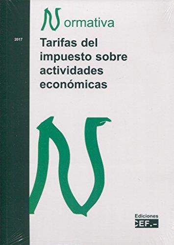 TARIFAS DEL IMPUESTO SOBRE ACTIVIDADES ECONOMICAS. NORMATIVA