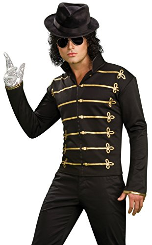 Original Michael Jackson Black Military Kostüm Moonwalk M.J Pop Musik Music Idol Gr. L, M, S, XL, (Kostüm Michael Jackson)