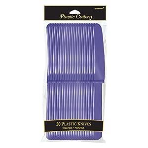 Amscan International Amscan 552289-106 - Cuchillos de plástico para cubiertos, 10 unidades, color morado