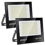 STASUN 50W LED Flutlicht Outdoor-Sicherheitsleuchte, 5000LM, 6000K Tageslichtweiß, IP66 Wasserdicht LED Strahler, 24 Monate Garantie