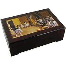 Caja de música para joyas / joyero musical de madera con bailarina y reproducción de un