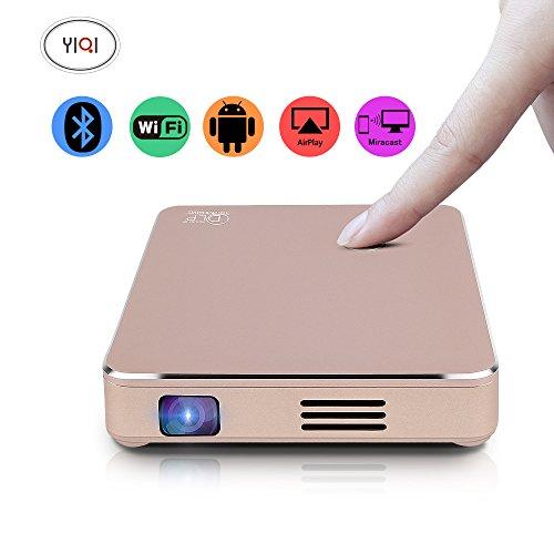 CPX-M7 Smart Mini DLP Projektor Android Wifi Portable Heimkino HD 1080P HDMI Ausgang eingebaute Batterie 1200 Lumen150 Zoll-für Heimkino, im Freien, Party, Reisen, Konzert, Business, Spiel