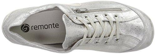 Remonte Dorndorf - R3408, Scarpe da ginnastica Donna Argento (Silber (silver / 90))