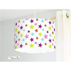Lampenschirm - Sterne - 35cm - Wunschfarbe und Größe auf Anfrage
