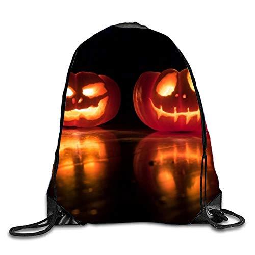 ber Halloween Sackpack Drawstring Backpack Waterproof Gymsack Daypack for Men Women ()
