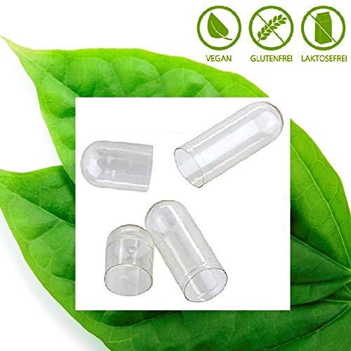 500 Fix Leerkapseln vegan HPMC Größe 0 Ober-/Unterteil getrennt verpackt vegetarische Kapsel Cellulose vegi Caps Arzneimittelbuch Qualität weltweit führender Hersteller