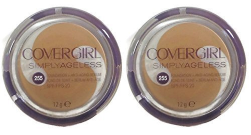 two-pack-covergirl-simply-ageless-foundation-makeup-anti-aging-serum-255-soft-honey-12g-by-covergirl