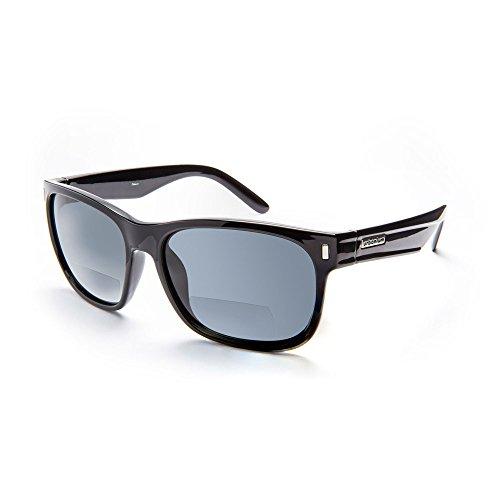 Urbanium Eyewear stylische Sonnenbrille mit Sehstärke Modell New York mit polarisierten Gläsern in schwarz in verschiedenen Stärken (+2.00)