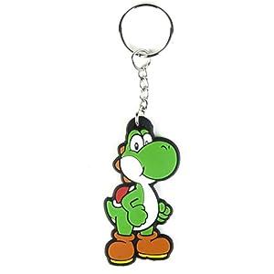 Nintendo KE141764NTN - Llavero Yoshi Mario Bros (Bioworld KE141764NTN) - Super Mario Bros: Llavero Yoshi Rubber