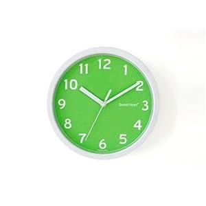 Attraktiv Decowall DSH S22GN 8.8u2033 Nicht Tickende Stille Modern Wanduhr DIY Für  Wohnzimmer Küche Büro (22.5cm, Grün)