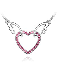 Flying Heart Of Love Pendant With Chain For Young Girls By AwesomeJi